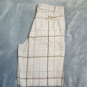 ONEILL Brown and tan board shorts sixe 32